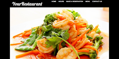 Free One Page Restaurant Website Template #1