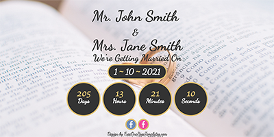 Free One Page Wedding Website Template - John & Jane