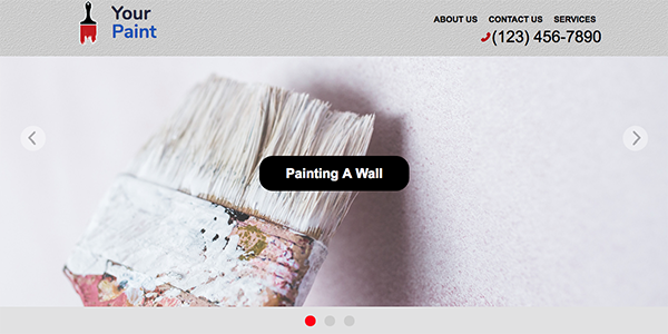 Free One Page Painting Business Website Template - Your Paint