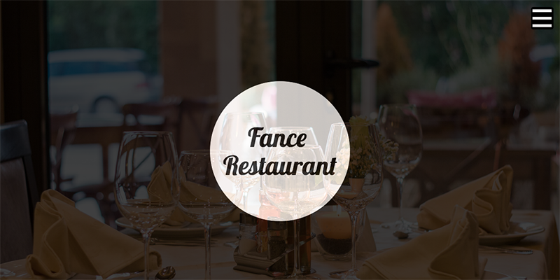 Free One Page Restaurant Template - Fance Restaurant Template Preview