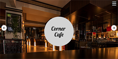 Free One Page Restaurant Template - Corner Cafe Template Preview