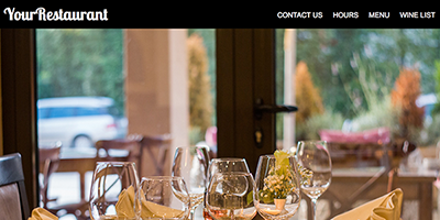 Free One Page Restaurant Website Template #3