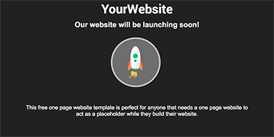 Free One Page Coming Soon Website Template - Rocket