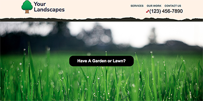Free One Page Landscaping Website Template (#1)