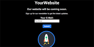 Free One Page Coming Soon Website Template - Newlsetter Rocket